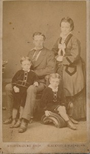 James Alfred Lancaster with Eliza Matilda, Joe and Ernest